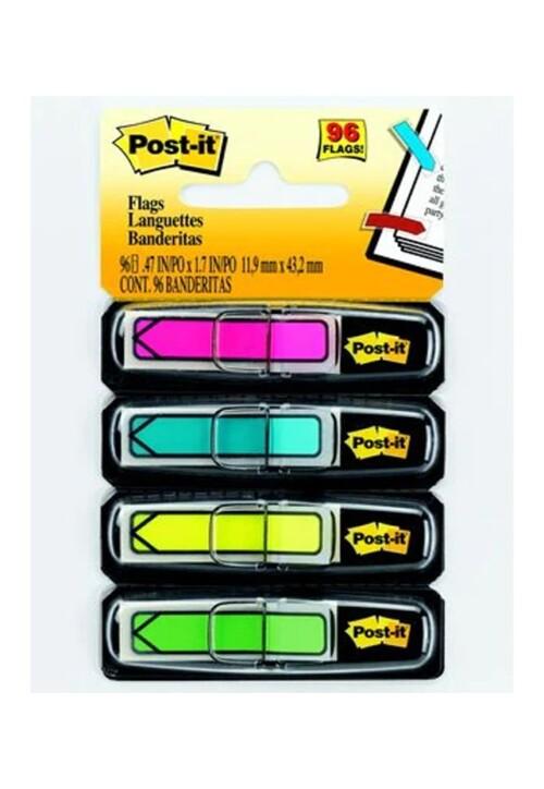 Banderitas Adhesivas 4 Colores C/96 #684-Arr4 Ideales para crear codificaciones por color en proyectos Todos los requerimientos de Etiquetas, Tape y Notas Adhesivas que necesita tu negocio están en CIPAC