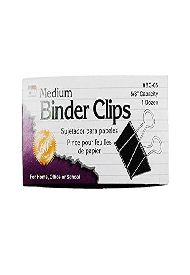 """Binder Clip Mediano Ancho Capacidad de 5/8"""" con 12 piezas Broche caimán tipo binder. Todos los requerimientos de Archivo, Papel y papelería que necesita tu negocio están en CIPAC."""