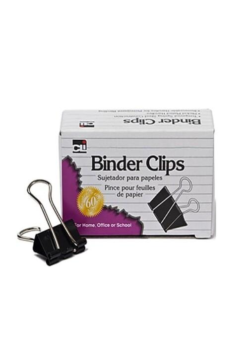 """Binder Clip Mini 9/16"""" Capacidad de 1/4"""" con 12 piezas Broche caimán tipo binder. Todos los requerimientos de Archivo, Papel y papelería que necesita tu negocio están en CIPAC."""