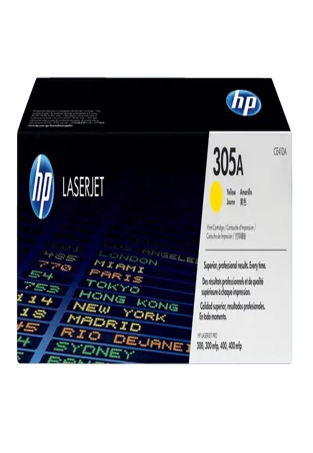 Cartucho de Tóner HP 305A Amarillo LaserJet Original Ce412a
