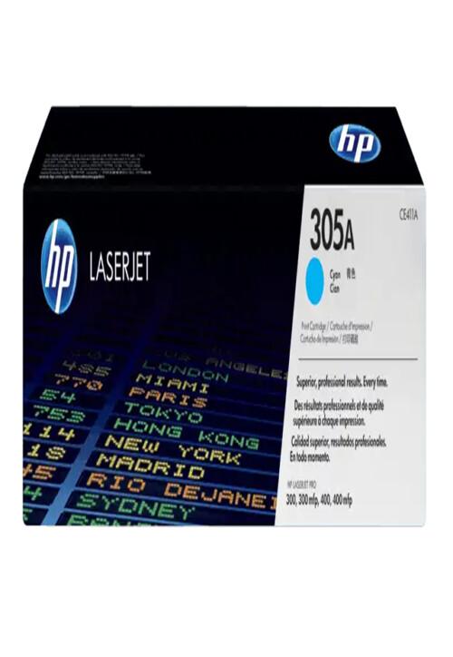 Cartucho de Tóner HP 305A Cian LaserJet Original Ce411aq
