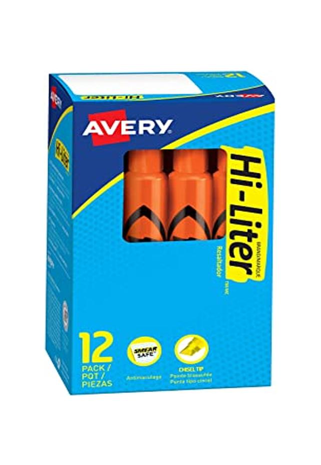 Marcador resaltador fosforescente punta cincel Hi-Liter