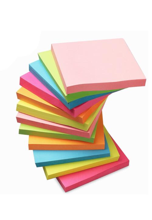 """Bloc engomado post it 3"""" x 3"""" Colores Pastel 12 piezas. Con 100 hojas auto adheribles cada bloque. Todos los requerimientos de Etiquetas, Tape y Notas Adhesivas que necesita tu negocio están en CIPAC."""