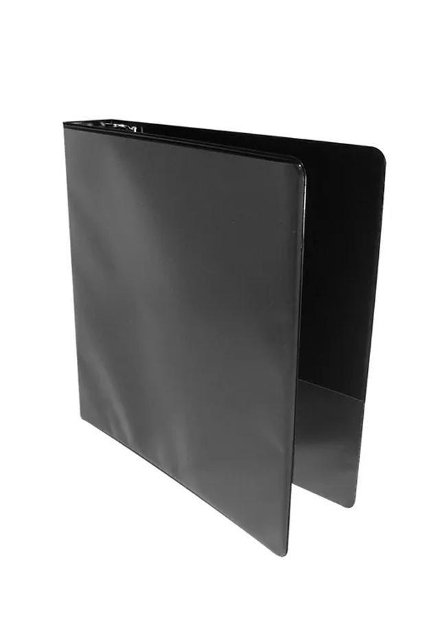 Carpeta de 3 aros color Negro con Mica